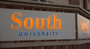 South University sign on building